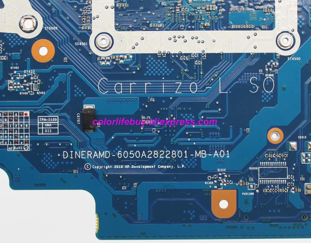 Image 5 - Genuine 858047 601 858047 001 6050A2822801 MB A01 UMA E2 7110 Laptop Motherboard Mainboard for HP 14 14 AN Series NoteBook PC-in Laptop Motherboard from Computer & Office