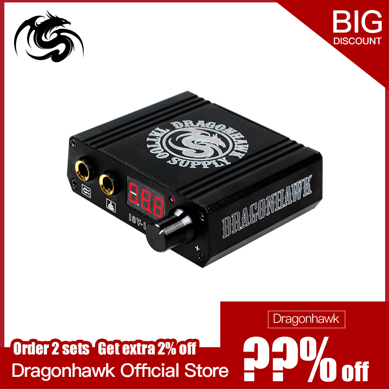 Top Quality Mini Tattoo Power Box LCD Untuk Mesin Tatu Dragonhawk Power Supply Tatu