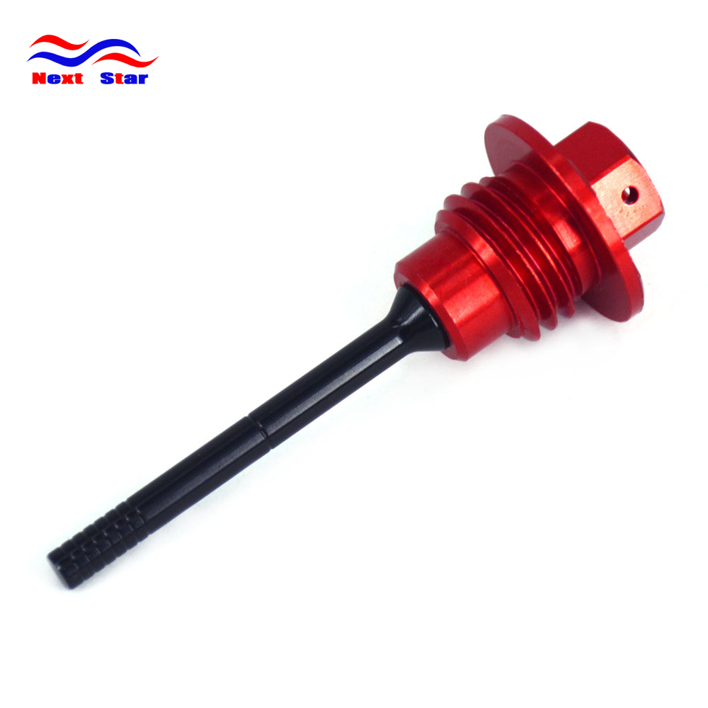 Motorcycle Red Aluminum Oil Dipstick Gauge Plugs For HONDA <font><b>CRF450R</b></font> CRF 450R 2009 <font><b>2010</b></font> 2011 2012 2013 2014 2015 2016 image