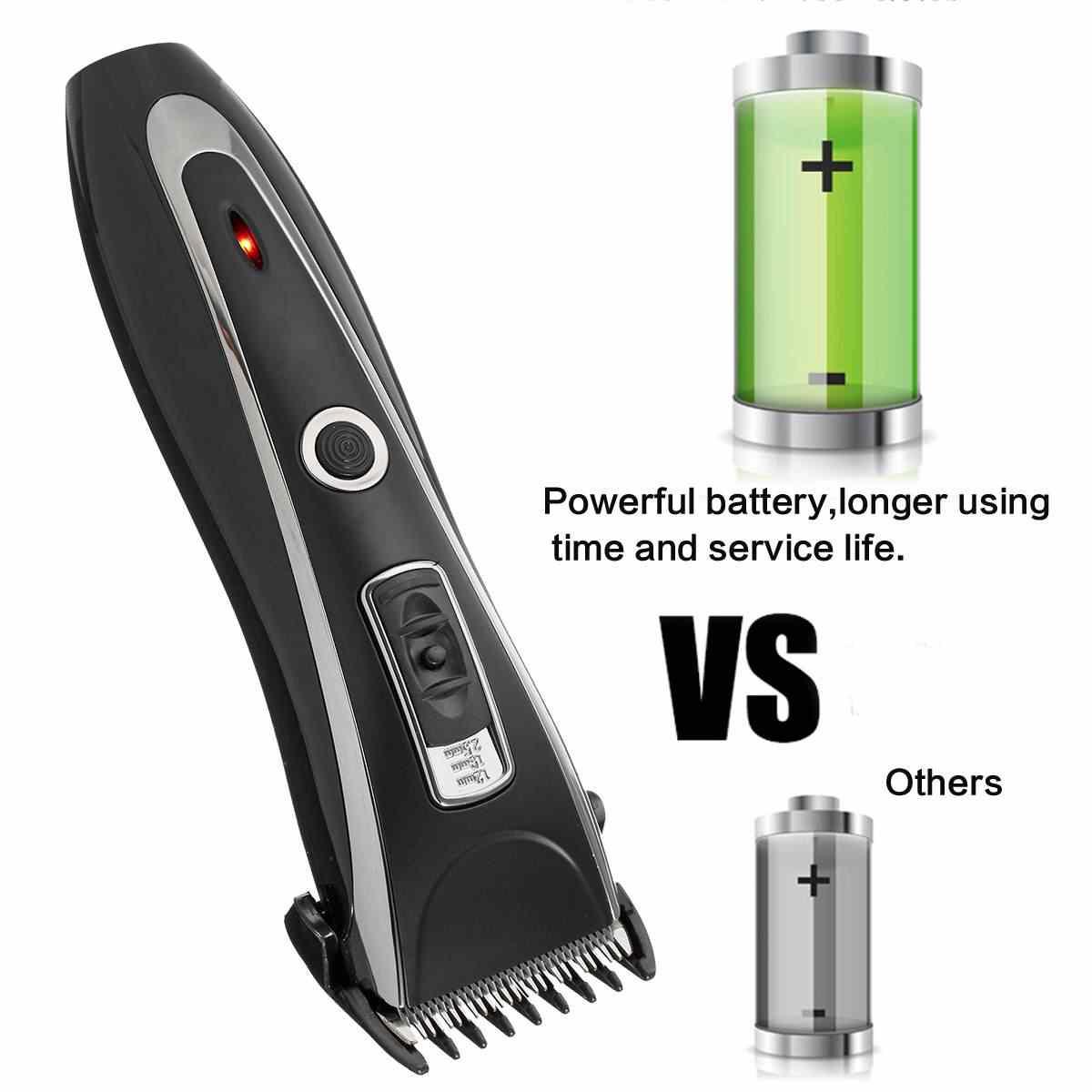 Перезаряжаемая электрическая машинка для стрижки волос триммер для бороды бритва набор Беспроводная стрижка регулируемый нож для мужчин резак для волос