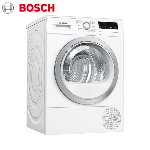 Сушильный автомат с тепловым насосом Bosch Serie|4 WTR85V20OE
