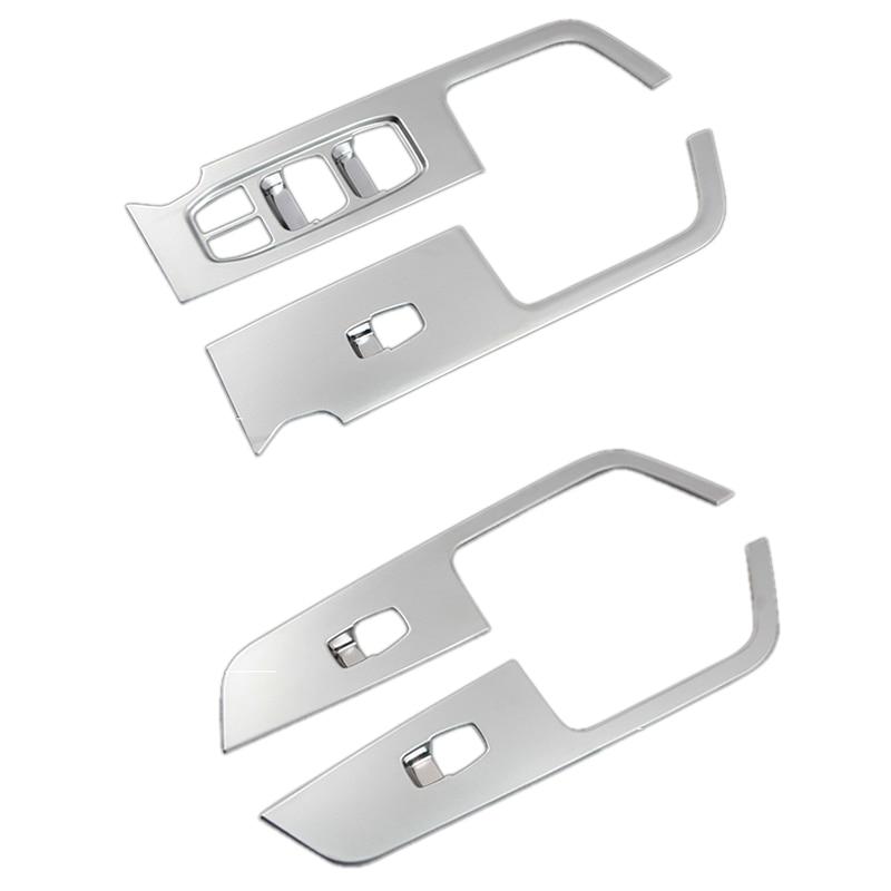 For Hyundai Ix25 Creta Chrome Inner Door Armrest Window Switch Cover Decoration Control Panel Auto Accessories 2015-2019