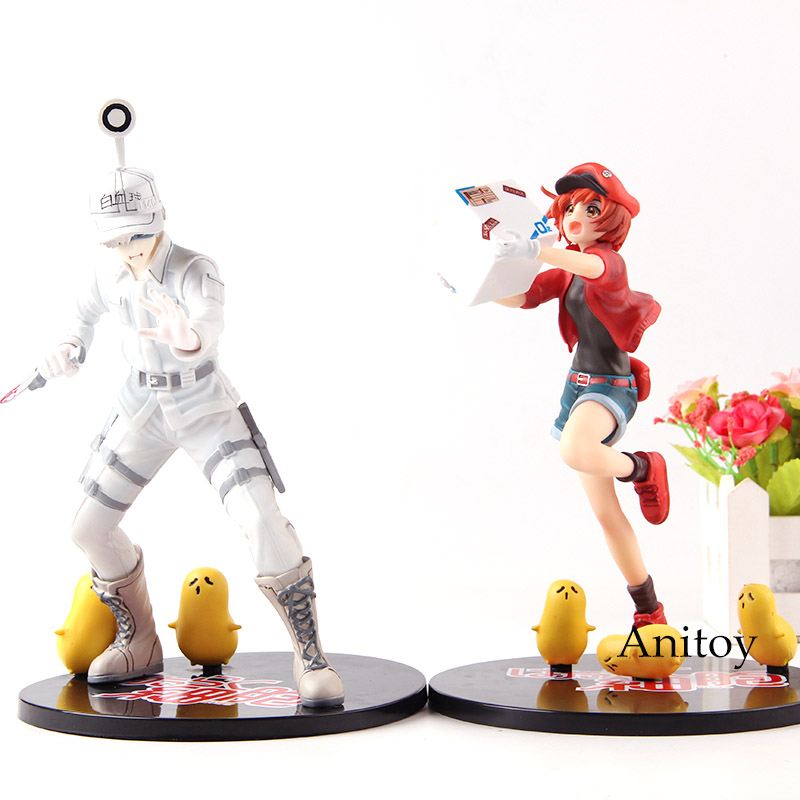 Anime Cells at Work White Blood Cell Red Blood Cell Hataraku Saibou Actions Figure PVC Collection Model Toys hatsune miku winter plush doll