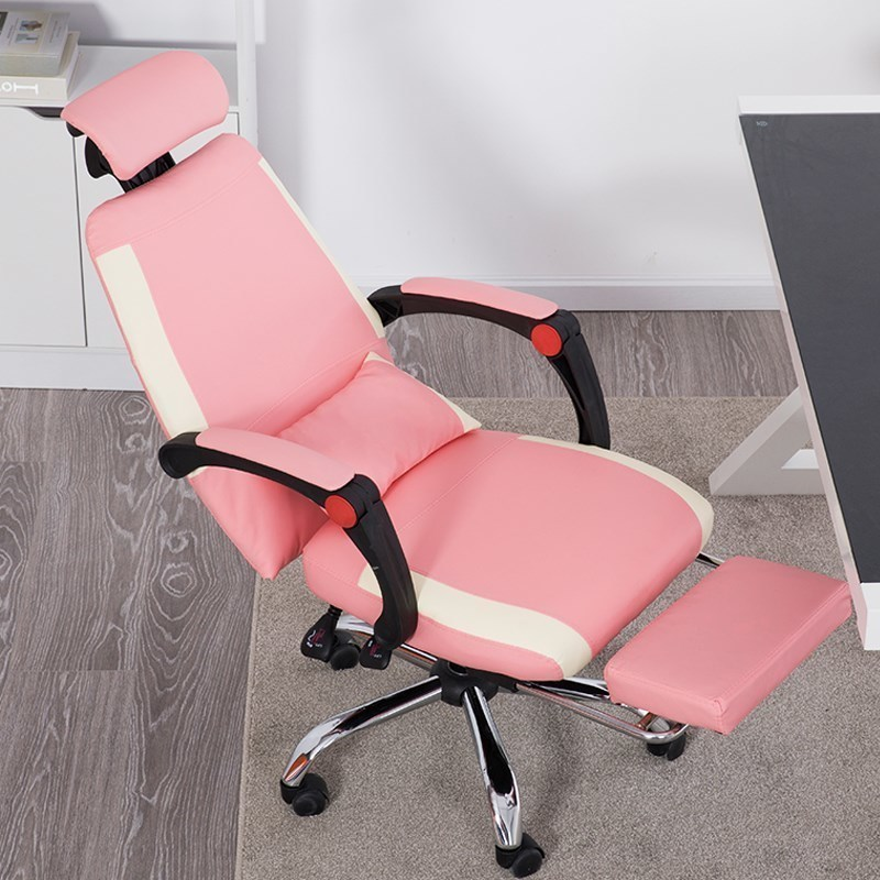 Swivel To Work In An Office Bring Armchair You Pink Colour Princess Electric Chair