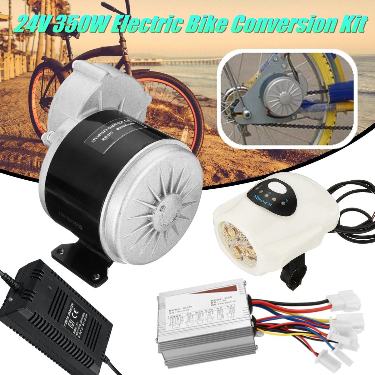 цена на Electric Bicycle Conversion Kit 24V 350W Brushed DC Motor For 22-28 Inch DIY Electric Bike Conversion Kit With Controller
