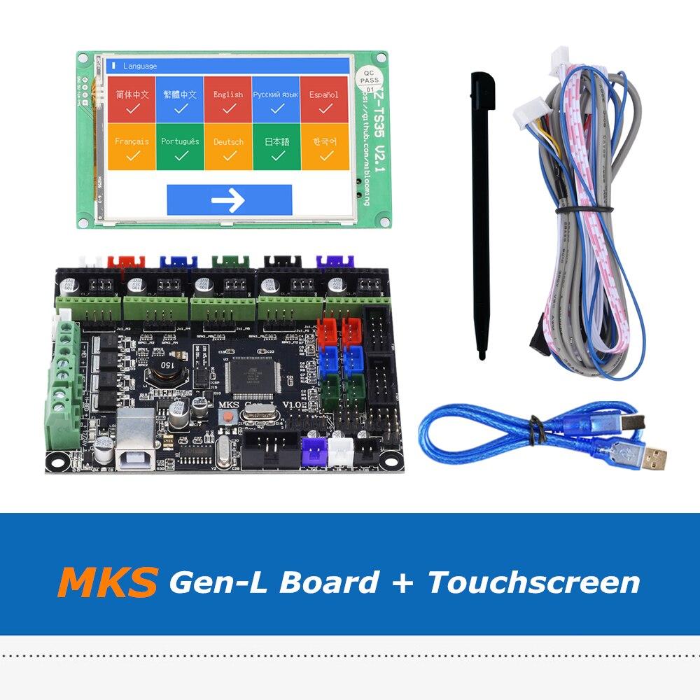 3D Imprimante Carte Mère Ensemble 2.4 2.8 3.5 pouces Plein Écran Tactile Couleur + MKS Gen-L V1.0 Bord Intégré avec Marlin Firmware