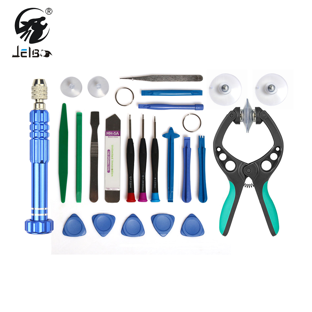 JelBo 22in1 Professional Mobile Phone Repair Tools LCD Screen Opening Screwdriver Suction Cup Kit Pry Disassembly Set Hand Tools
