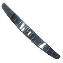 Для Тесла модель X Нержавеющая сталь интерьер задний багажник Pad крыло Стикеры покрытие автомобиля Средства для укладки волос
