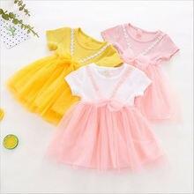 5a5a1656b50bd 2019 Emmababy nouveau-né enfant en bas âge mignon enfant bébé fille maille  robe tricoté dentelle Tulle fête fleur fille princess.