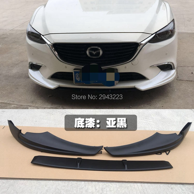 For Mazda 6 Atenza 2014-2017 ABS Unpainted Color Front Corner Bumper Skid Lip Protector Guard Covers Spoiler 3Pcs Car StylingFor Mazda 6 Atenza 2014-2017 ABS Unpainted Color Front Corner Bumper Skid Lip Protector Guard Covers Spoiler 3Pcs Car Styling