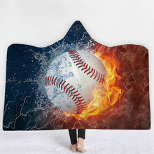 55636f731 Deporte fuego béisbol Baloncesto de fútbol con capucha manta Sudadera con  capucha de lana de vestir