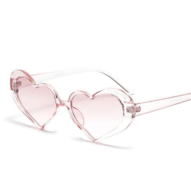 c833b3b14df44 XojoX Coração Óculos De Sol Das Mulheres Da Moda Retro Design de Lente  Transparente Rosa Meninas
