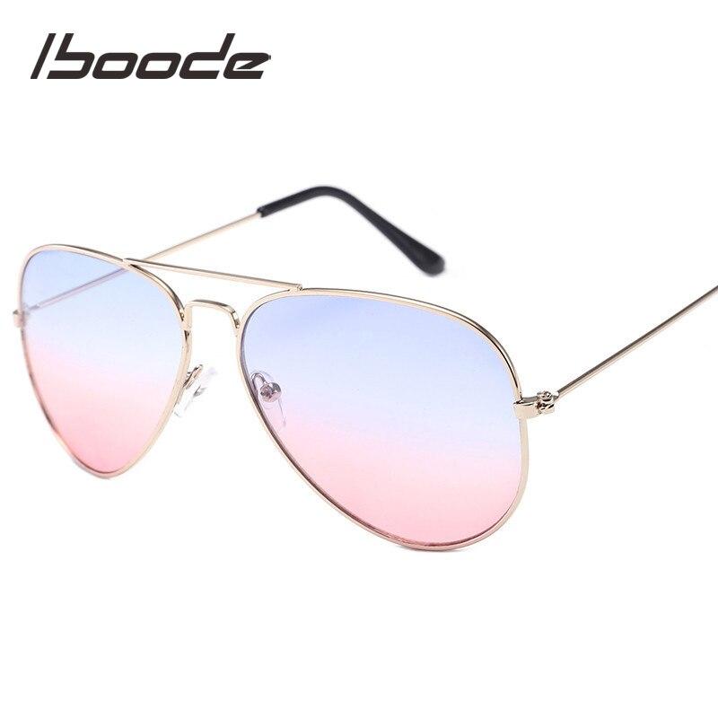 Iboode Uv400 Kinder Sonnenbrille Coole Mode Pilot Sonnenbrille Jungen Mädchen Geschenk Ozean Farbe Kinder Sonnenbrille Retro Brille Oculos