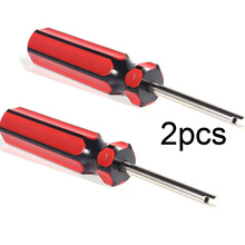 2Pcs Screwdrivers Tire Valve Core One Way Tool for Car Motorcycle Truck Tire Repairing Tools Wrench