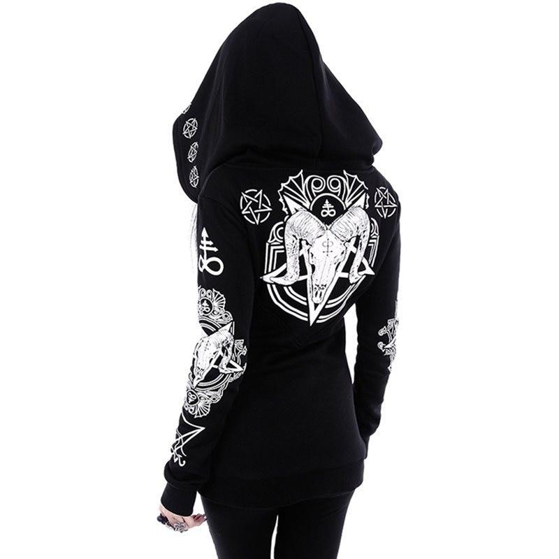 TRIBAL Hooded black Gothic Punk Street Wear Kapuzenpullover  NEU
