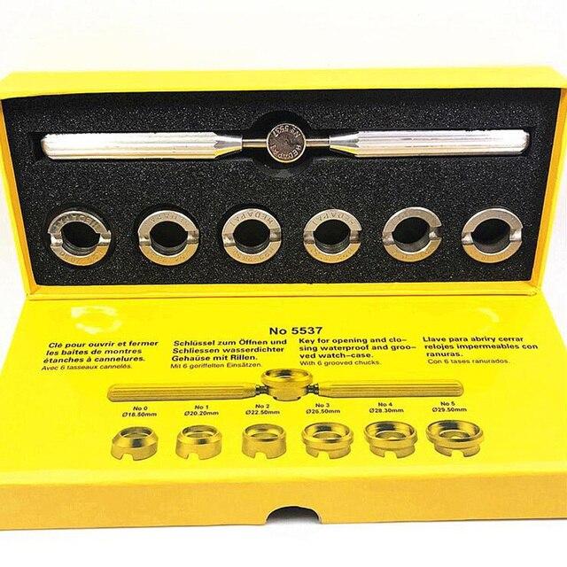 7 pcs 시계 도구 시계 시계 오프너 수리 도구 쉬운 열기 시계 백 케이스 롤렉스