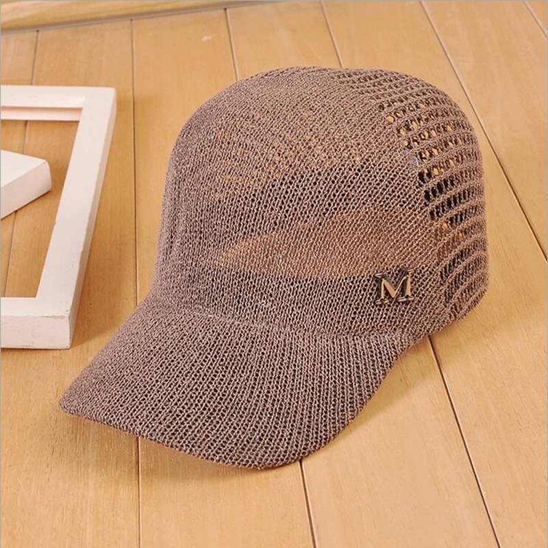 New Women And Men M Letter Hollow   Baseball     Cap   Summer Breathable Cool Equestrian Hat Snapback Hat