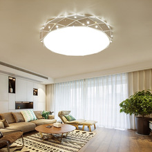 Bedroom Lamp Led Diamond Round Ceiling Light Simple Room Living Room Crystal Lamp Manufacturer Direct