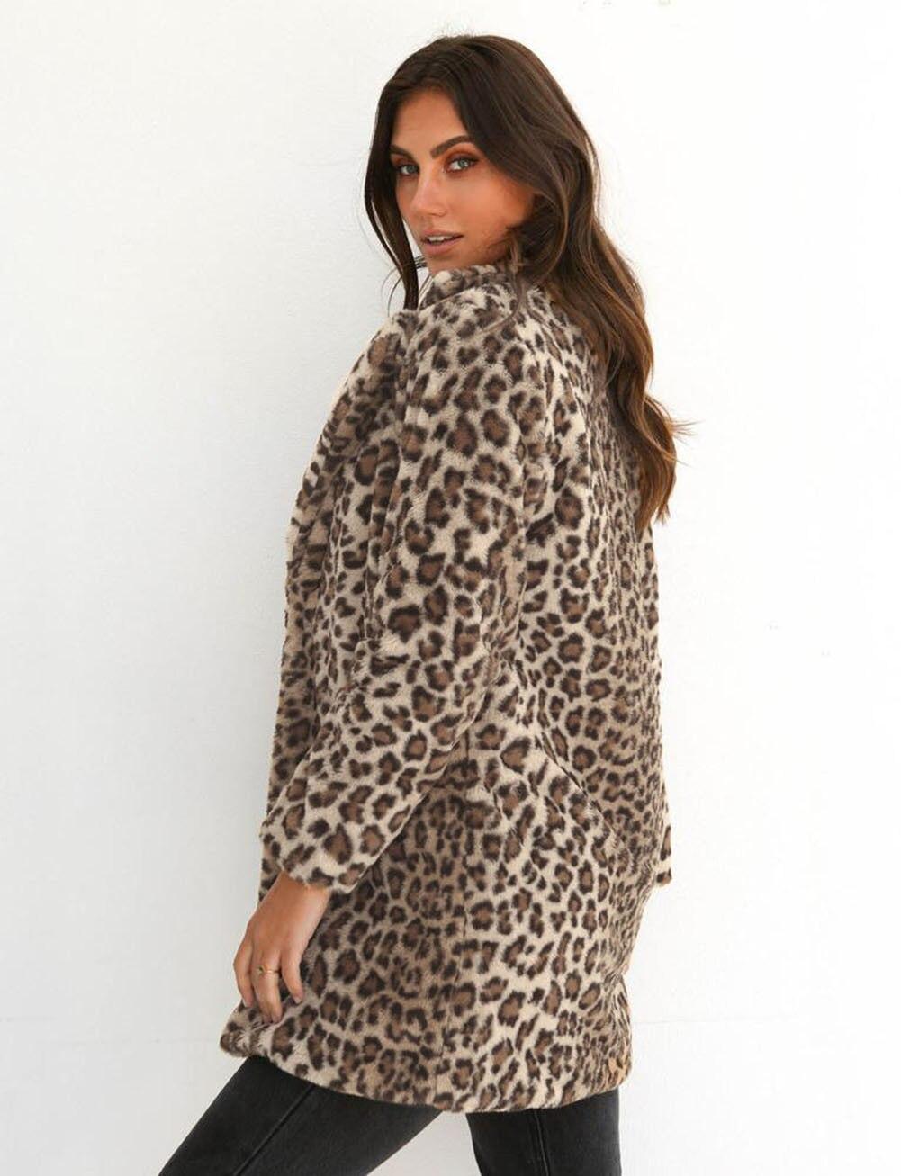 Hirigin 2018 Newest Hot Womens Winter Leopard Fluffy Fleece Jacket Coat Cardigans Hooded Jumper Tops Clubwear Hirigin 2018 Newest Hot Womens Winter Leopard Fluffy Fleece Jacket Coat Cardigans Hooded Jumper Tops Clubwear