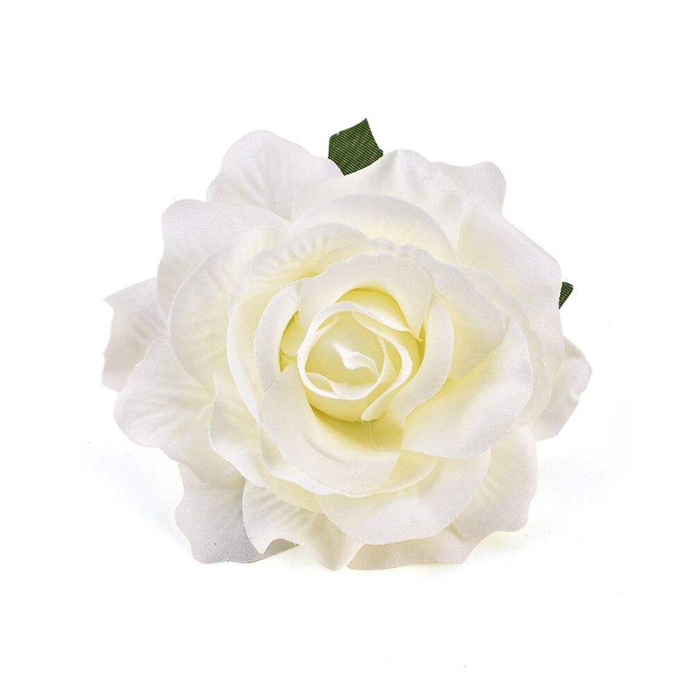 100 шт Искусственные белые розы Шелковые головки цветов для украшения свадьбы DIY ВЕНОК Подарочная коробка Скрапбукинг искусственные поддельные цветы