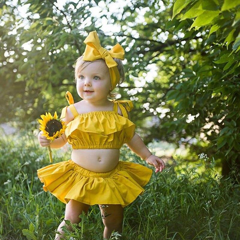 2019 Summer Cute Newborn Baby Girls Off Shoulder Tops