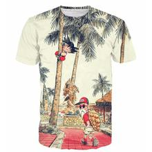 ZACOO Men 3D Cartoon Figure Pattern Short Sleeve T-shirt