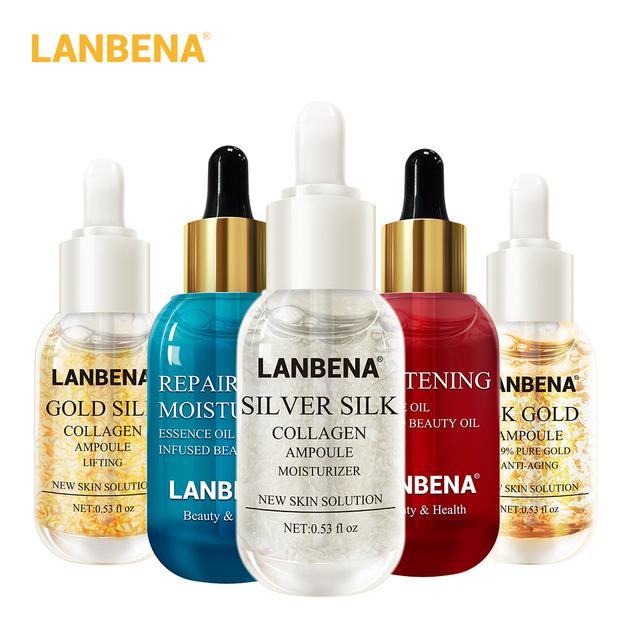 LANBENA Collagen Ampoule Hyaluronic Acid Essential  Skin Serum Face Cream Nourishing Whitening Firming Moisturizing Skin Care