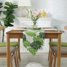 Green Plant Table Runners Banquet Tablecloth Dining Mat Supply Party Decoration Home Decor