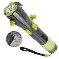 XANES XLN Hand Cranking USB Rechargeable Multi functional Car Emergency Flashlight Safety Hammer USB Warning Torch Light