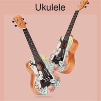 Four Strings Hawaiian Guitar Ukulele Mahogany Single Board Musical Instrument Small Guitar