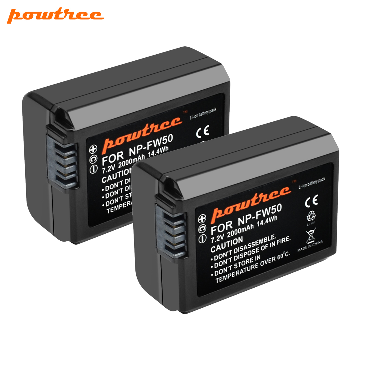 Turpow For <font><b>Sony</b></font> 7.2V 2000mAh NP-FW50 NPFW50 NP FW50 Camera Battery For <font><b>Alpha</b></font> 6500 6300 6000 5000 <font><b>3000</b></font> a7R a7S a7S II a7II image