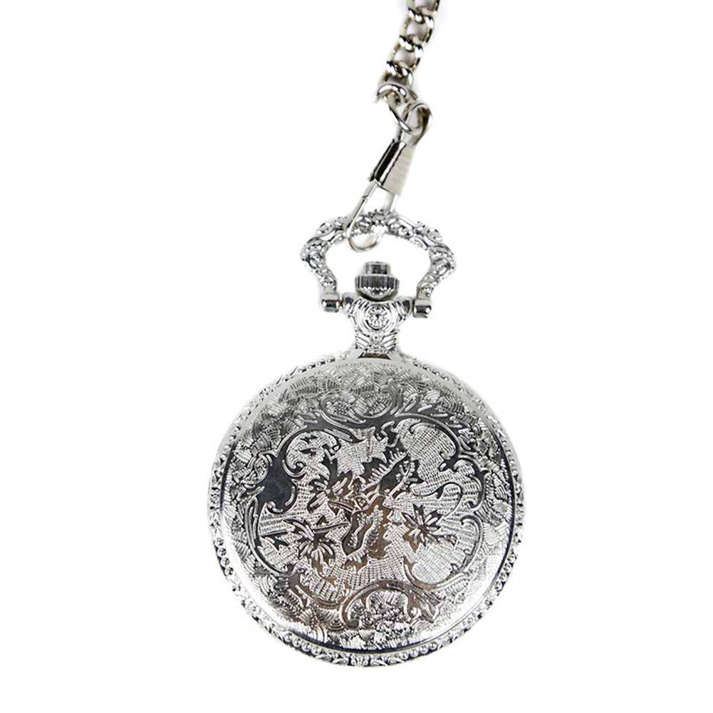 Fashion Vintage Retro Pocket Watch DAD Pattern Pendant Chain Round Dial Analog Pocket Watch Necklace For Grandpa Dad Gifts in Pocket Fob Watches from Watches
