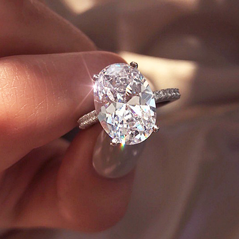 Sale Classic Engagement Ring 4 Claws Design AAA White Big