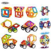 105pcs/pack Mini Magnetic Designer Construction Set Model & Building Toy Plastic Magnetic Blocks Educational Toys For Kids Gift