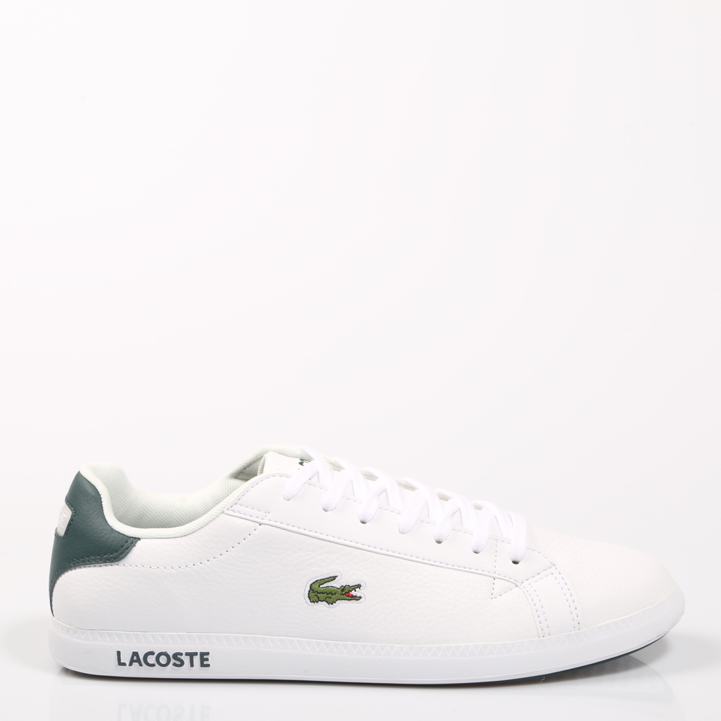 56f4012a3ba4 Lacoste GRADUATE LCR3 118 1 White Shoes Man Sneaker Sport Rubber Leather  Flat Laces Classic Causal Original Quality 68117-in Running Shoes from  Sports ...