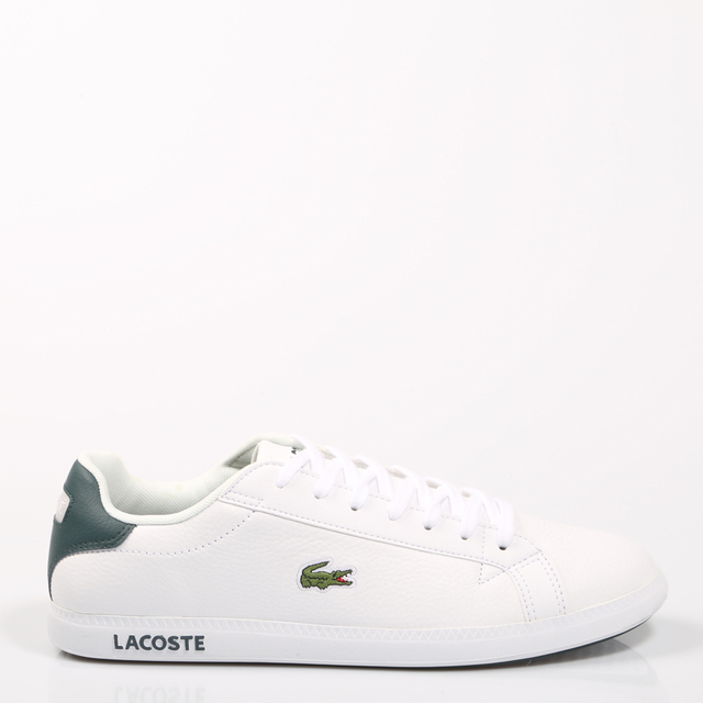 01dda9ed451 Lacoste GRADUATE LCR3 118 1 White Shoes Man Sneaker Sport Rubber Leather  Flat Laces Classic Causal