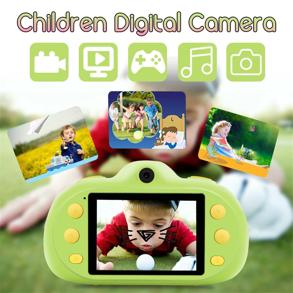 Full HD 1080 P enfants caméra numérique Mini double lentille enfants caméra 2.4 pouces écran vidéo caméra jouet lecteur de jeu MP3 enfants cadeaux