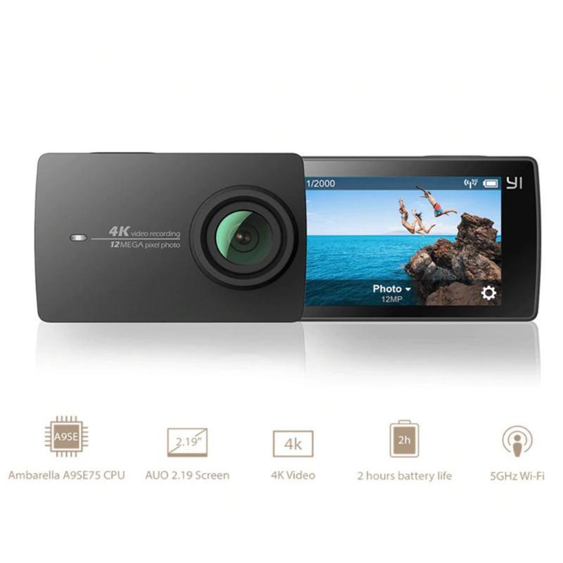 Xiaomi YI 4 K 2.19 pouces caméra d'action Ambarella A9SE75 sport tactile Mini caméra 155 degrés écran tactile sport Mini caméra