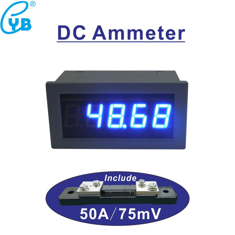 Current Meters Ingenious Dc Ammeter Dc 50a With Shunt 50a/75mv Dc Ampere Meter Current Meter Supply Voltage Dc 12v 24v 5v Amp Panel Meter Current Tester Fast Color Electrical Instruments