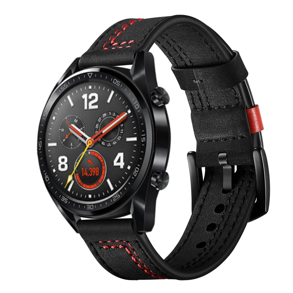 Image 4 - 22MM Smart Sports Watch Strap Top Layer Fashion Replacement Leather Watch Strap 7 Shape Wristband Watch Magic Band 2019 New-in Smart Accessories from Consumer Electronics