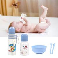7PCS Newborn Baby Feeding Kit Manual Breast Pump Breastfeeding Collection Cups Fork Spoon Bowl Feeding Bottle Combo