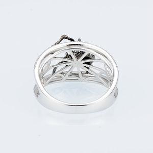 Image 4 - SANTUZZA bague en argent pour les femmes véritable 925 en argent Sterling anneaux uniques délicat noir araignée anneau à la mode fête bijoux de mode