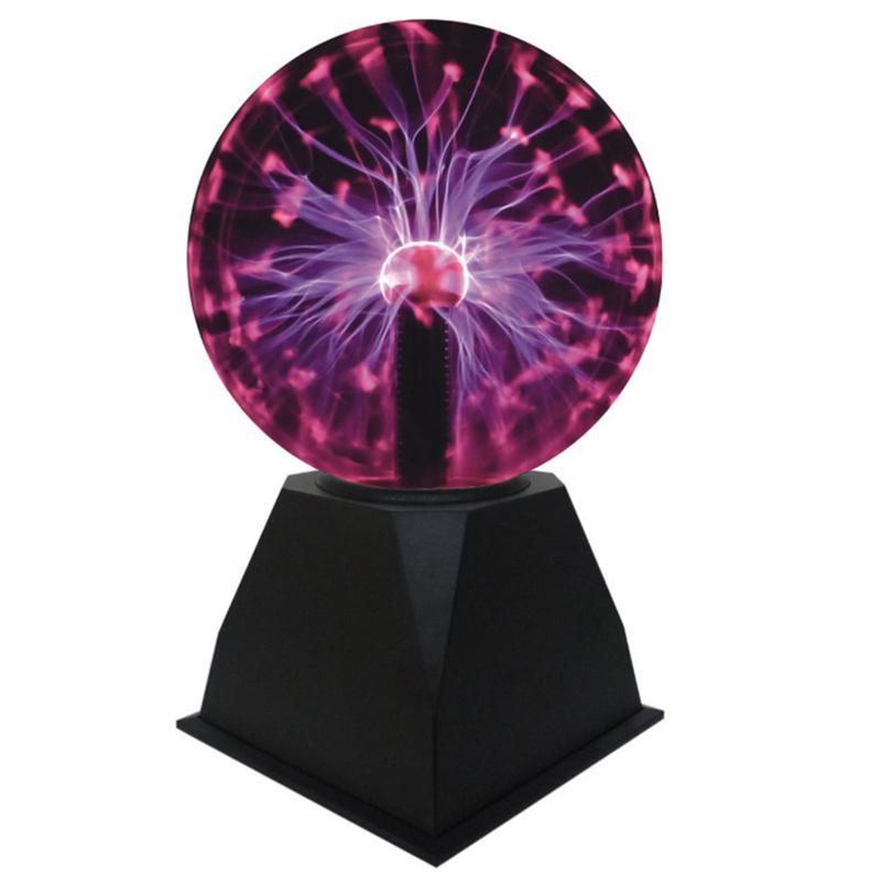 Novelty Glass Magic Plasma Ball Light 3 4 5 6 8 Inch Table Light Sphere Nightlight Magic Plasma Night Lamp For Kids Gift