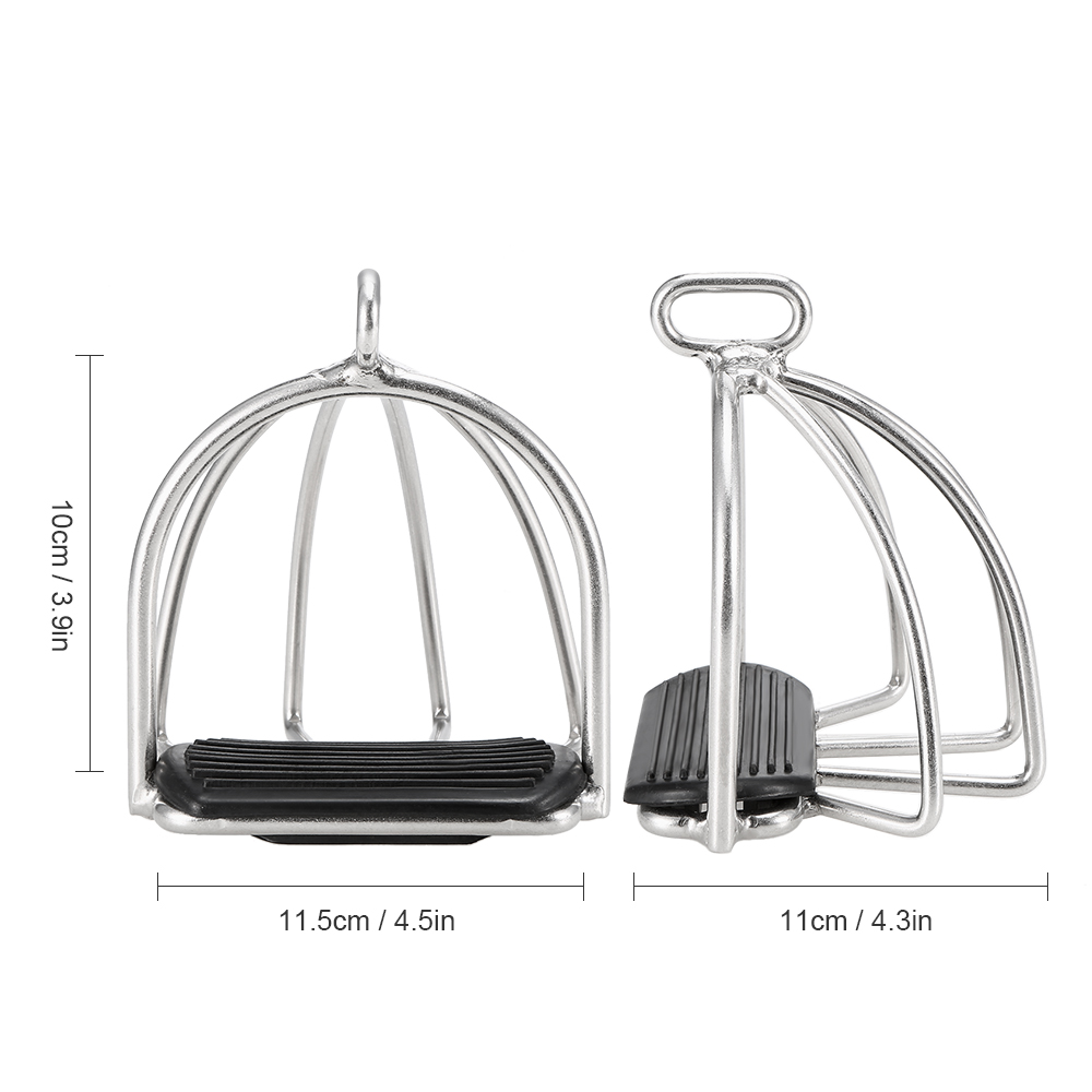 Image 4 - 2 PCS Cage Horse Riding Stirrups Flex Steel Horse Saddle Anti skid Horse Pedal Equestrian Safety Equipment-in Horse Care Products from Sports & Entertainment