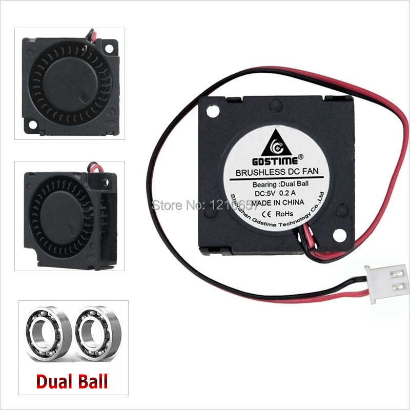 Gdstime <font><b>30mm</b></font> <font><b>5V</b></font> Blower 3010 2 Pin Ball Bearing 3cm 30x30x10mm Brushless DC <font><b>Cooling</b></font> <font><b>Fan</b></font> image