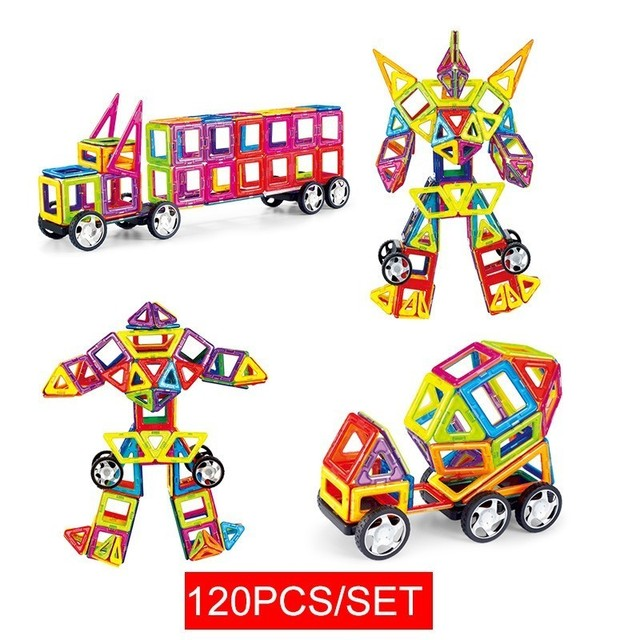 Magnetic Building Blocks Educational Construction Toys Set Magnet Designer Magnetic Tiles Kit For Kids Big Size