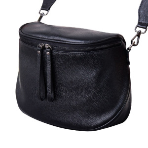 Image 5 - Fashion Women Handbag 100% Genuine Leather waist bag Lady Casual Tote  Female Crossbody Messenger Purse Grey Shoulder Bag