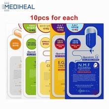 10 шт., маска для лица MEDIHEAL, маска для лица, увлажняющая маска против морщин, Подтягивающая кожу лица, корейская косметика