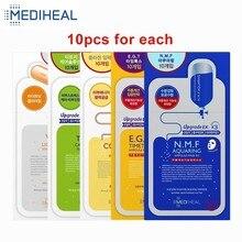 10 pces medihear cuidados com a pele máscara facial folhas envolto máscara anti rugas hidratante levantamento rosto psiquiatra poro coreano cosméticos
