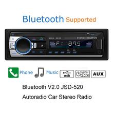 hot deal buy new car stereo fm radio mp3 audio player 12v bluetooth usb sd aux auto electronics subwoofer in-dash 1 din usb flash disk